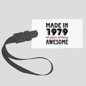 Made In 1977 40 Years of Being A Large Luggage Tag