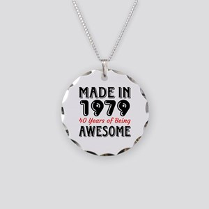 Made In 1977 40 Years of Bei Necklace Circle Charm