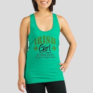 Irish Girl Drinking Buddy Racerback Tank Top