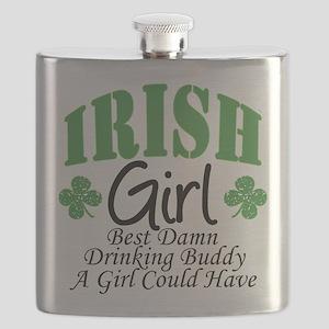 Irish Girl Drinking Buddy Flask