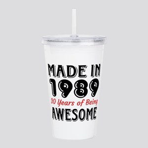 Made In 1987 30 Years Acrylic Double-wall Tumbler