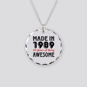 Made In 1987 30 Years of Bei Necklace Circle Charm