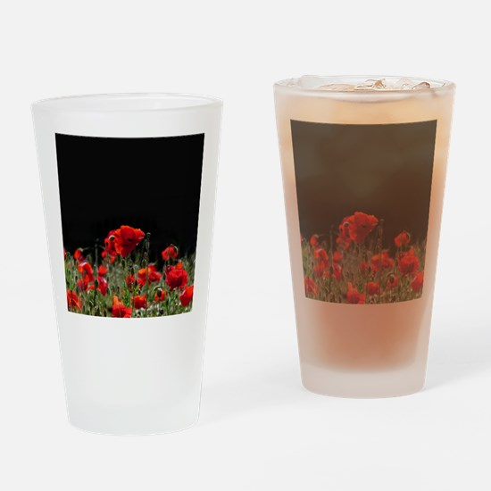 Red Poppies in bright sunlight Drinking Glass