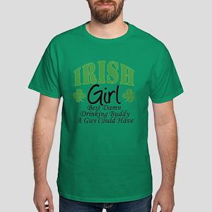 Irish Girl Drinking Buddy Dark T-Shirt