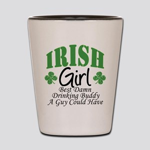 Irish Girl Drinking Buddy Shot Glass