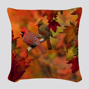 Cardinal Refuge Woven Throw Pillow