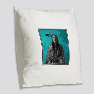 BRAVE Burlap Throw Pillow