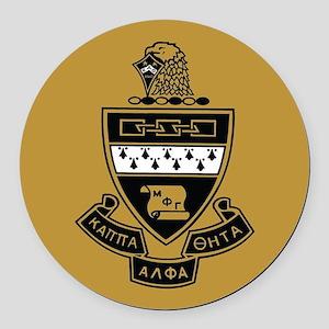 Kappa Alpha Theta Crest Round Car Magnet