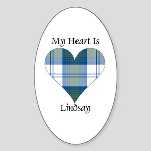 Heart-Lindsay dress Sticker (Oval)