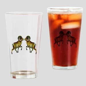 BIGHORNS Drinking Glass