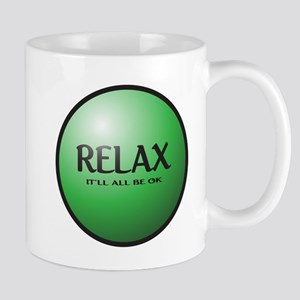 Relax Button Mugs