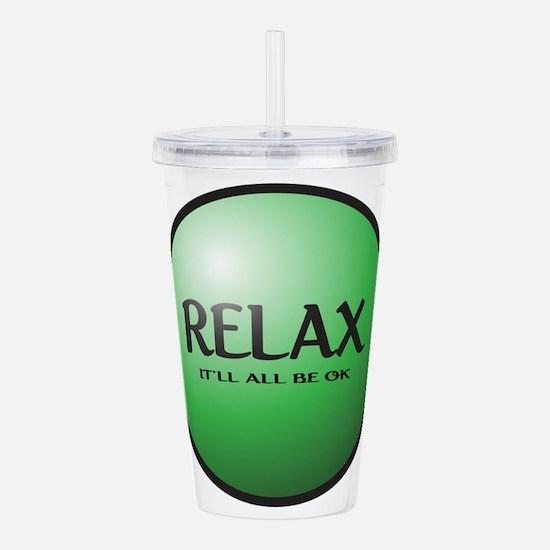 Relax Button Acrylic Double-wall Tumbler