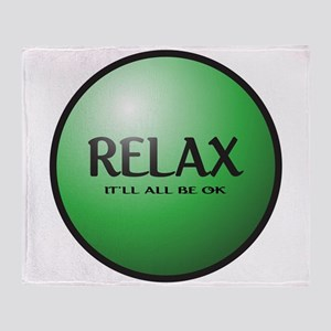Relax Button Throw Blanket