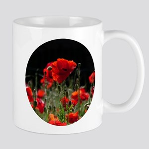 Red Poppies in bright sunlight 02_rd Mugs