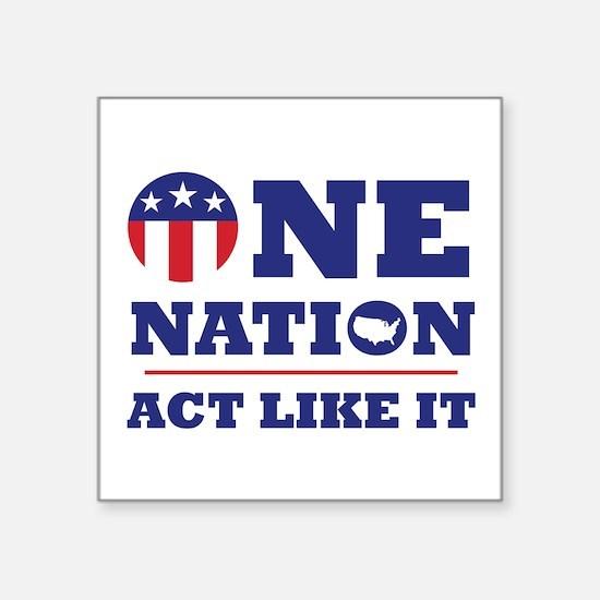 One Nation Sticker