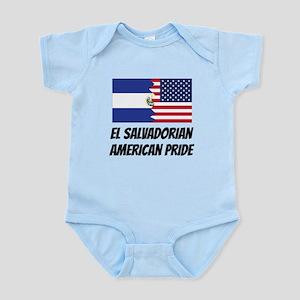 El Salvadorian American Pride Body Suit