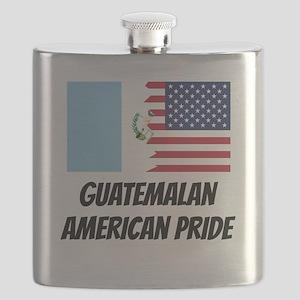 Guatemalan American Pride Flask