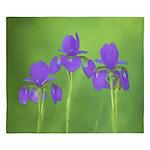Purple Iris King Duvet