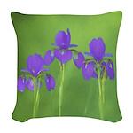 Purple Iris Woven Throw Pillow