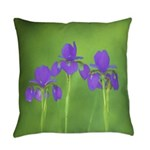 Purple Iris Everyday Pillow
