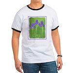 Purple Iris Ringer T