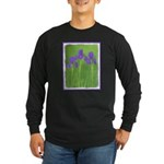 Purple Iris Long Sleeve Dark T-Shirt