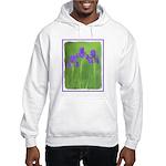 Purple Iris Hooded Sweatshirt