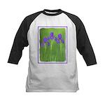 Purple Iris Kids Baseball Jersey