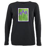 Purple Iris Plus Size Long Sleeve Tee