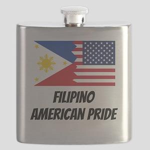 Filipino American Pride Flask