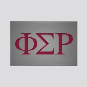 Phi Sigma Rho Letters Rectangle Magnet