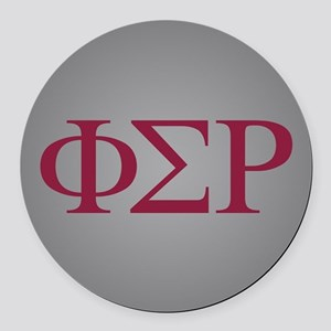 Phi Sigma Rho Letters Round Car Magnet