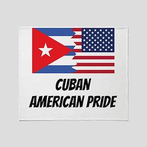 Cuban American Pride Throw Blanket