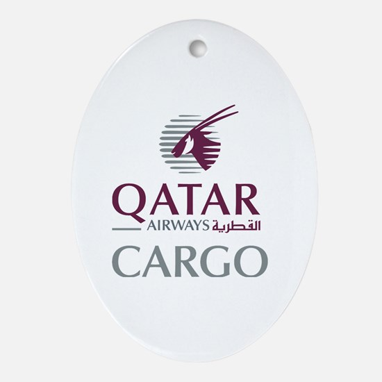 Cute Qatar Oval Ornament