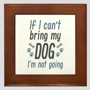 Bring My Dog Framed Tile