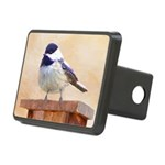 Chickadee on Birdhouse Rectangular Hitch Cover