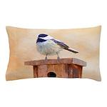Chickadee on Birdhouse Pillow Case