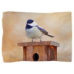 Chickadee on Birdhouse Pillow Sham