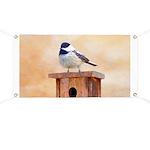 Chickadee on Birdhouse Banner
