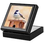 Chickadee on Birdhouse Keepsake Box