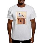 Chickadee on Birdhouse Light T-Shirt