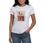 Chickadee on Birdhouse Women's T-Shirt