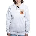 Chickadee on Birdhouse Women's Zip Hoodie