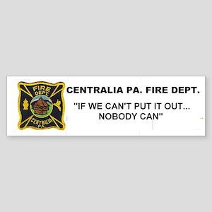 Centralia Pa. Fd. Bumper Sticker