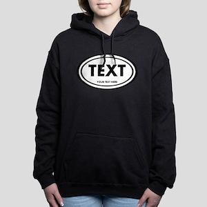 Classic Oval Sticker Personalized Sweatshirt