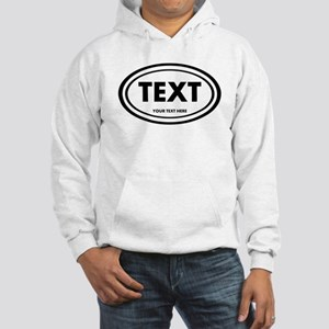 Classic Oval Sticker Personalized Sweatshirt