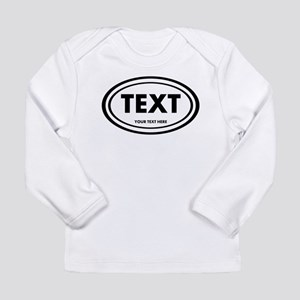 Classic Oval Sticker Personalized Long Sleeve T-Sh