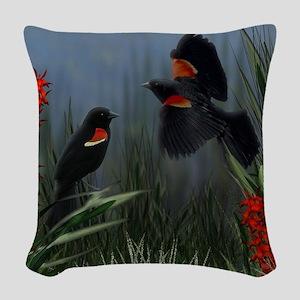 Redwing Marsh Woven Throw Pillow