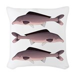 Nile Elephant-snout fish Woven Throw Pillow