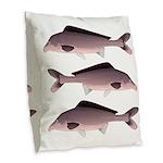Nile Elephant-snout fish Burlap Throw Pillow